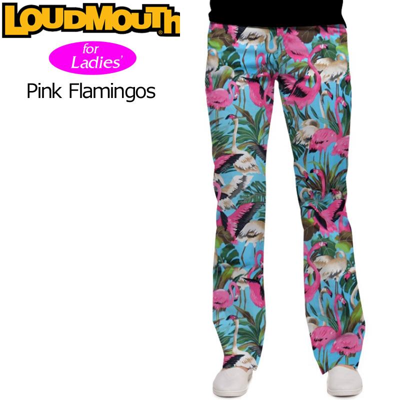 【レディース】ラウドマウス ロングパンツ ジーンズカット (ピンク Flamingos ピンクフラミンゴ) 767380(086)【42%off】【インポート】【新品】17SS ゴルフウェア Loudmouth Long Pants Jeans Cut 女性用 レディス 婦人向け WOMEN'S ウィメンズ ウィメンズ派手 派手な 柄