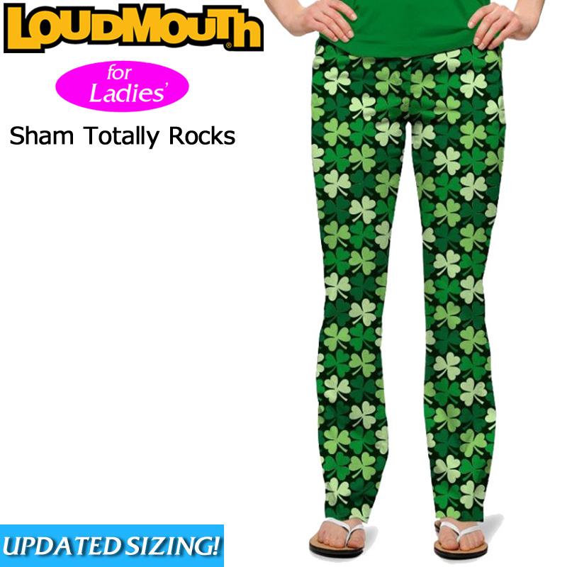 レディース ラウドマウス ロングパンツ ジーンズカット (Sham Totally Rocksシャムトータリーロックス) 767380(085)【インポート】【新品】 Loudmouth Women's Pants 17SS レディス 女性用 ゴルフウェア ボトムス派手 派手な 柄 目立つ 個性的 %off