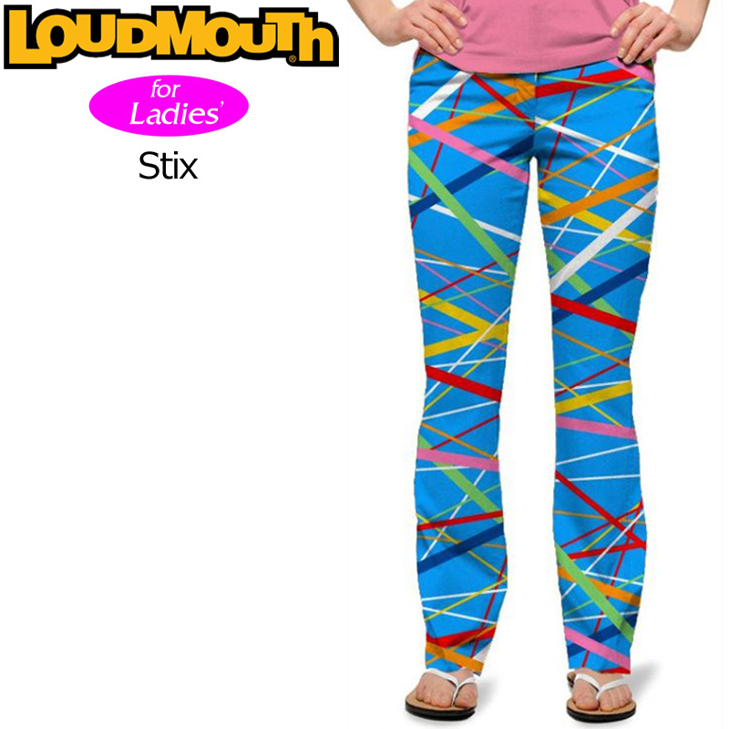 [40%off][レディース]ラウドマウス ロングパンツ ジーンズカット (Stix スティックス) 767380(096)[新品] 17SS Loudmouth ゴルフウェア レディス 女性用 Long Pants Jeans Cut