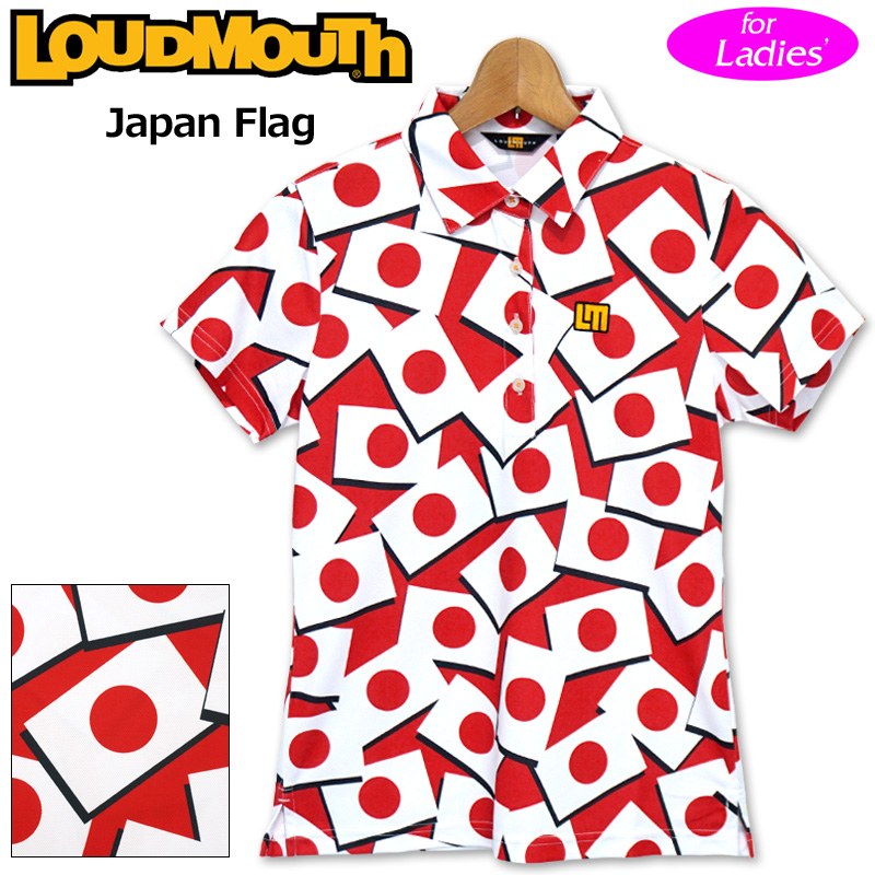 【メール便発送】ラウドマウス 2020 レディース 半袖 ポロシャツ 吸水速乾 UVカット Japan Flag ジャパンフラッグ 760656(247) 【日本規格】【新品】20SS Loudmouth ゴルフウェア FEB3 MAR1
