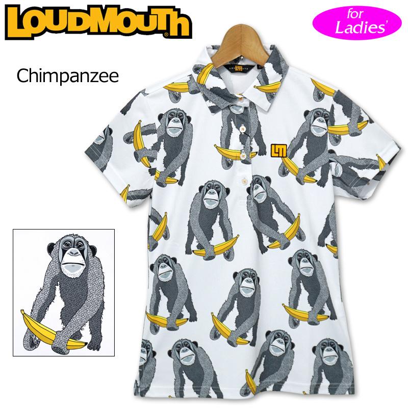 【メール便発送】ラウドマウス 2020 レディース 半袖 ポロシャツ 吸水速乾 UVカット Chimpanzee チンパンジー 760658(238) 【日本規格】【新品】20SS Loudmouth ゴルフウェア FEB3 MAR1