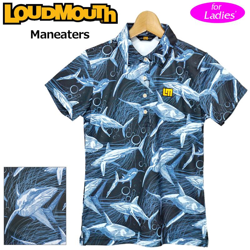 【メール便発送】ラウドマウス 2020 レディース 半袖 ポロシャツ 吸水速乾 UVカット Maneaters マンイーター 760658(244) 【日本規格】【新品】20SS Loudmouth ゴルフウェア FEB3 MAR1