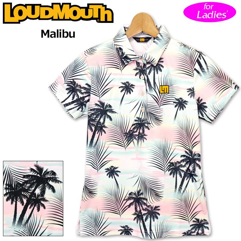 【メール便発送】ラウドマウス 2020 レディース 半袖 ポロシャツ 吸水速乾 UVカット Malibu マリブ 760658(255) 【日本規格】【新品】20SS Loudmouth ゴルフウェア FEB3 MAR1