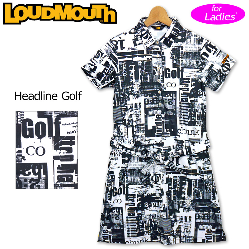 ラウドマウス 2020 レディース 半袖 ワンピース Headline Golf ヘッドラインゴルフ 760660(242) 【日本規格】【新品】20SS Loudmouth ゴルフウェア FEB3 MAR1