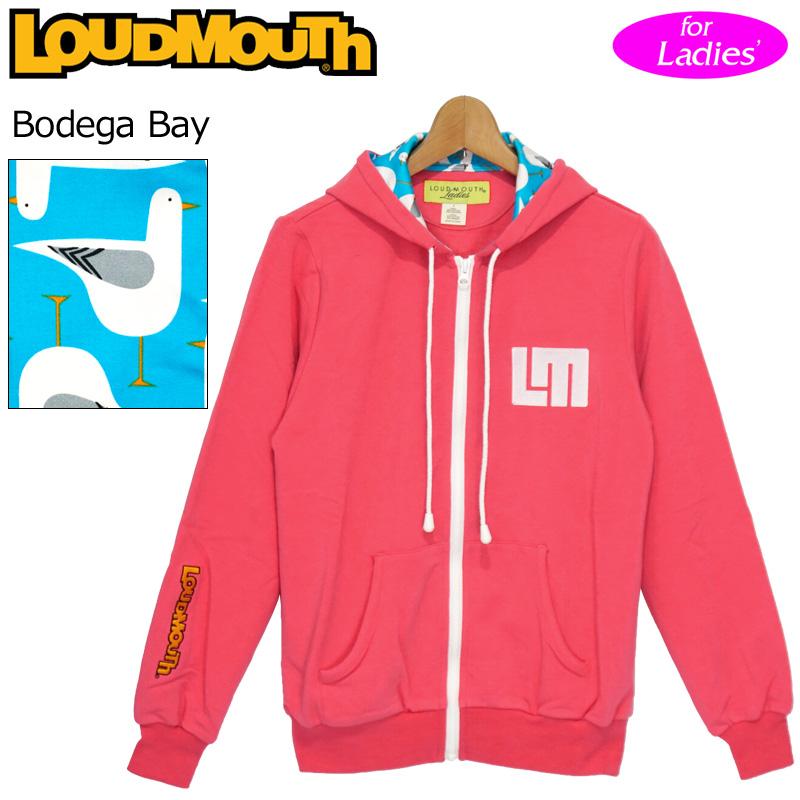 """レディース ラウドマウス パーカー """"ボデガベイ/ピンク"""" French Terry Hoodie Jacket """"Bodega Bay/Pink"""" 【新品】Loudmouth ゴルフウェア フーディー 無地 アウター SS ジャケット"""