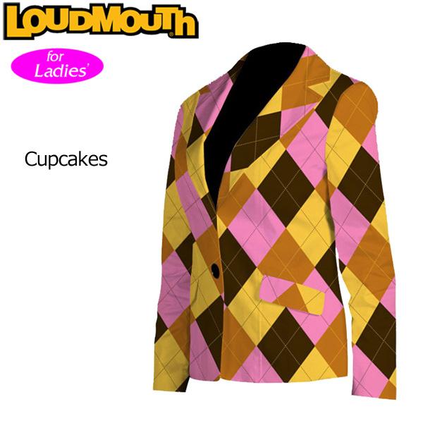 """レディース Loudmouth Women's Blazer/Jacket """"Cupcakes"""" (ラウドマウス ブレザー/ジャケット """"カップケーキ"""")【Sale】【新品】レディス女性用ゴルフウェアスカートボトムス テーラード 派手 派手な 柄 目立つ 個性的 %off"""