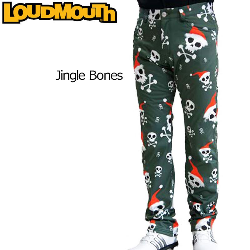 【50%off】【防寒】【日本規格】ラウドマウス メンズ ボンディング ロングパンツ (Jingle Bones ジングルボーンズ) 726515(041) 秋冬【新品】 16FW Loudmouth ゴルフウェア 長ズボン ボトムス派手 派手な 柄 目立つ 個性的