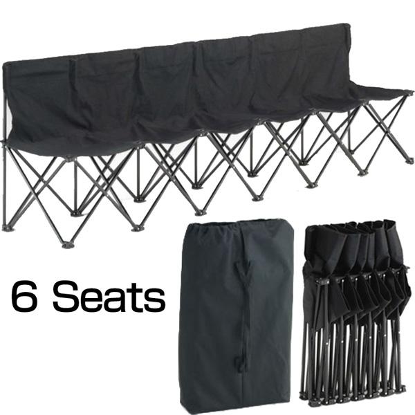 [クーポン有][スポーツ観戦に最適]ユニバー ワンタッチベンチシート(6人掛け/6シート)[新品]アウトドアキャンプチェアイス椅子6人用