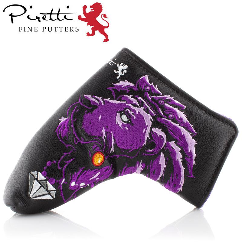 【日本正規品】ピレッティ 2019 パターカバー ブレード型/ピン型 Tour Only Putter Cover Majestic Lion Purple【新品】 19SS Piretti ゴルフ用品 ヘッドカバー