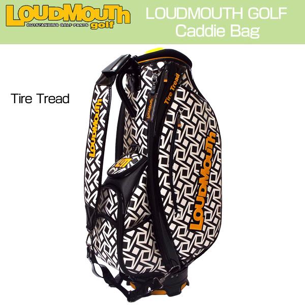 [日本規格]ラウドマウス 3点式9型キャディバッグ (Tire Tread タイヤトレッド) LM-CB0006/777963(099)[新品] 17FW Loudmouth ゴルフバッグ メンズ レディース