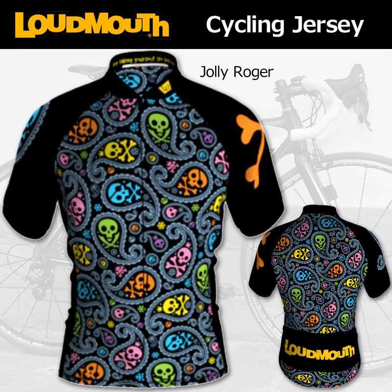 [20%off]ラウドマウス メンズ 半袖サイクルジャージ Jolly Roger ジョリーロジャー インポートモデル [新品] Loudmouth 自転車 サイクリングウェア トップス ロードバイク クロスバイク メンズ サイクルウェア サイクルウエア トップス