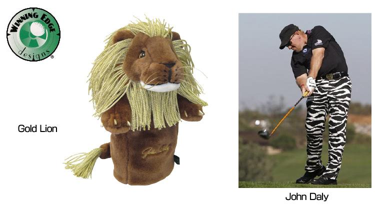 """[优惠券有]供John Daly司机使用的脑袋覆盖物#33110 John Daly John Daly""""Gold Lion""""Head Cover黄金狮子[新货]人/女士1W"""