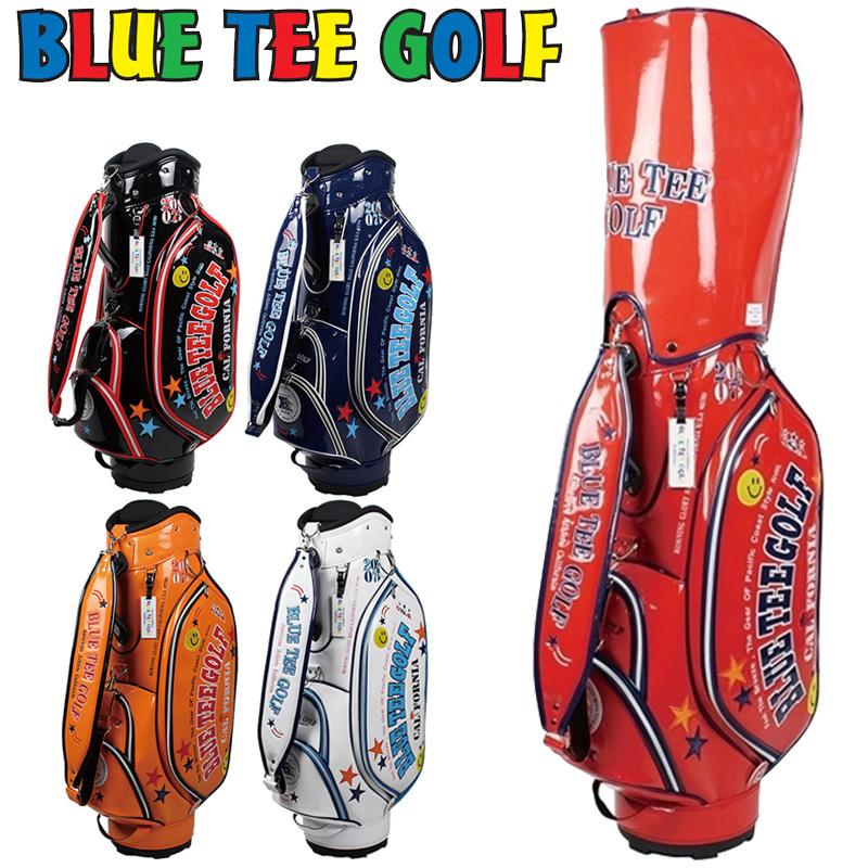 ブルーティーゴルフ 9型 エナメル キャディバッグ BTG-CB-005【新品】Blue Tee Golf California ゴルフ用バッグ メンズ レディース JUL2 JUL3 ブルーティ