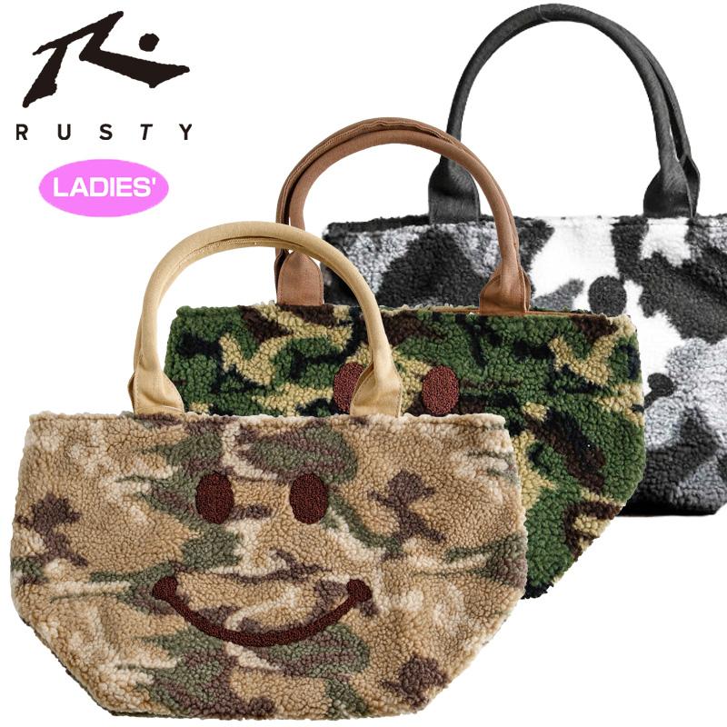 2276e89bf1a Cart bag cart porch mini-bag mini-porch NOV1 NOV2 for the RUSTY  ラスティレディーススマイル embroidery mini-tote bag 95791018FW woman