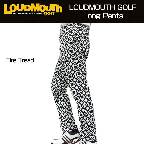 [30%off][日本規格]ラウドマウス メンズ ツイル ロングパンツ (Tire Tread タイヤトレッド) 777300(099)[新品] 17FW Loudmouth 男性用 ゴルフウェア ボトムス