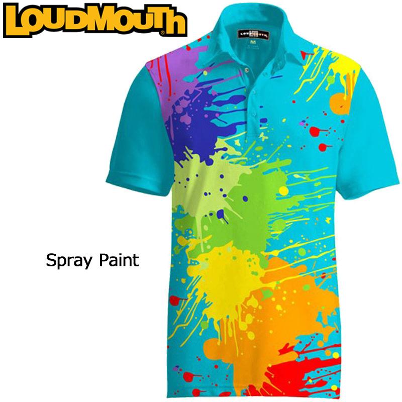 ラウドマウス 半袖 ファンシーシャツ Spray Paint スプレーペイント Loudmouth Fancy Shirt[新品]ゴルフウェアメンズポロシャツトップス