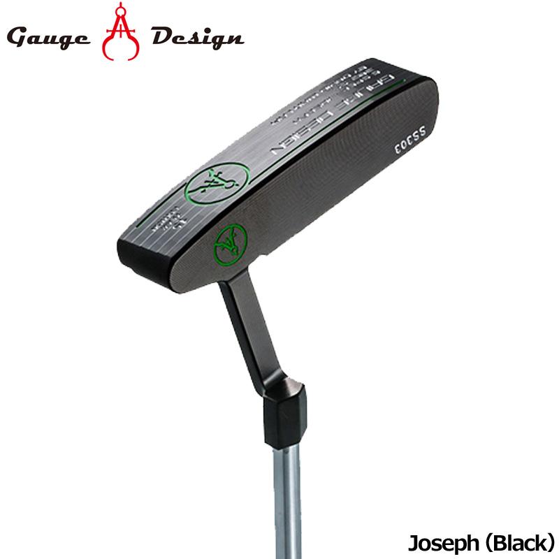 【日本正規品】ゲージデザイン パター Joseph (Black) オリジナルスチールシャフト装着【新品】Gauge Design Putter PT ピンタイプジョセフブラック ゴルフクラブ