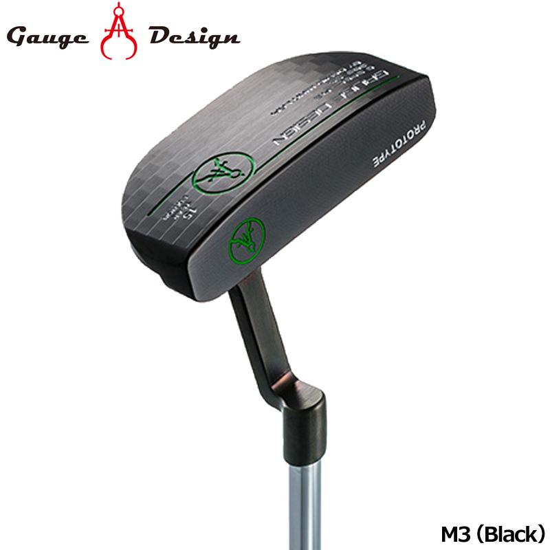 【日本正規品】ゲージデザイン パター M3 (Black) オリジナルスチールシャフト装着【新品】Gauge Design Putter PT マレットタイプブラック ゴルフクラブ
