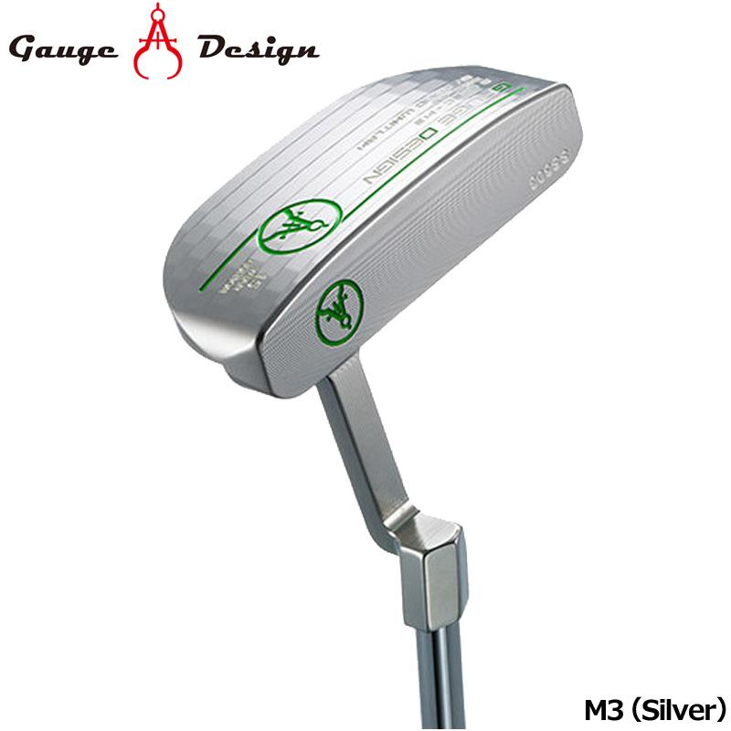 【日本正規品】ゲージデザイン パター M3 (Silver) オリジナルスチールシャフト装着【新品】Gauge Design Putter PT マレットタイプシルバー ゴルフクラブ