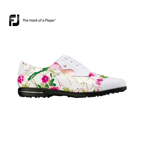 レディース フットジョイ Tailored Collection (91692)フローラル W(2E)【新品】FOOTJOY テーラードゴルフシューズ軽量ラバースパイクレス女性 %off
