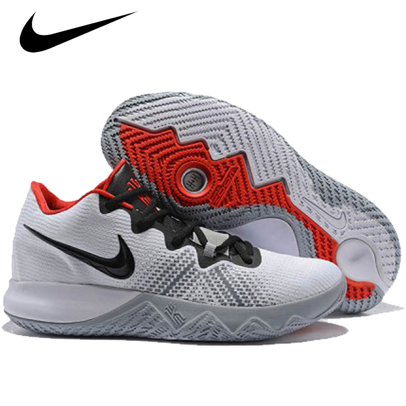 deca018c63de Nike NIKE men basketball shoes KYRIE FLYTRAP white   black - university red  AA7071-102 new article chi leaf light lap shoes sneakers %off