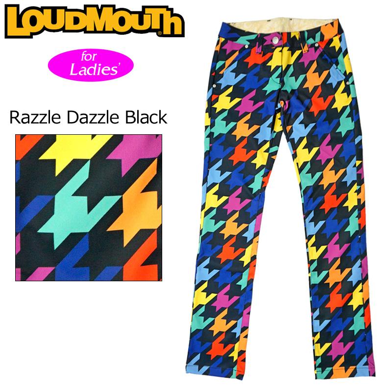 【日本規格】ラウドマウス レディース ロングパンツ Razzle Dazzle Black ラズルダズル ブラック 726711(009)【新品】 16FW Loudmouth ゴルフウェア ボトムス %off