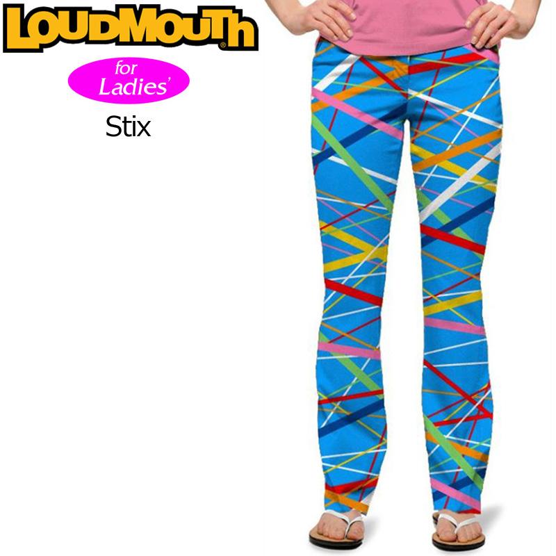 【30%off】【インポート】レディース ラウドマウス ロングパンツ ジーンズカット (Stix スティックス) 767380(096)【新品】 17SS Loudmouth ゴルフウェア レディス 女性用 Long Pants Jeans Cut派手 派手な 柄 目立つ 個性的
