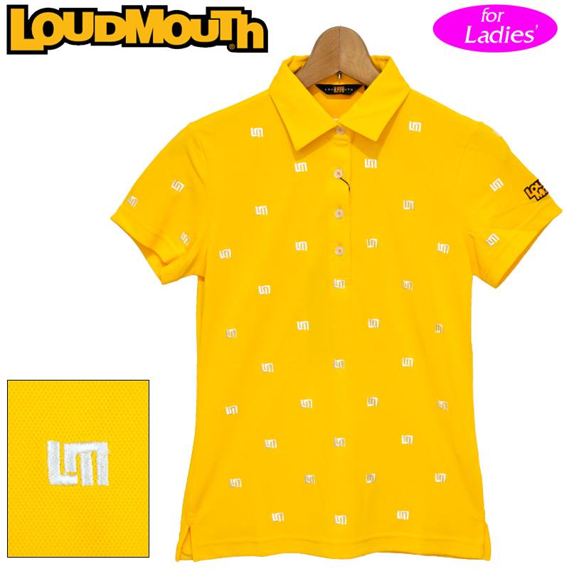 【メール便発送】【日本規格】ラウドマウス 2020 レディース 半袖 ポロシャツ 吸水速乾 UVカット イエロー 760655(993) 【新品】20SS Loudmouth ゴルフウェア FEB3 MAR1