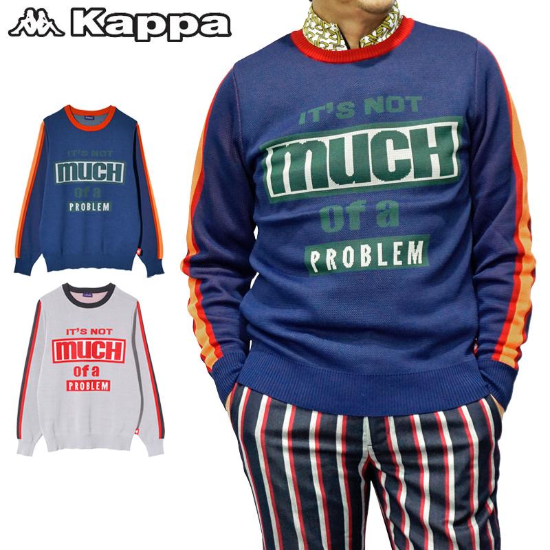 """【30%off】カッパゴルフ メンズ セーター KC852SW23 """"Kappa G"""" Kappa Golf ゴルフウェア 秋冬【新品】 18FW 男性用 紳士用 ゴルフウエア トップス アウター 長そで"""