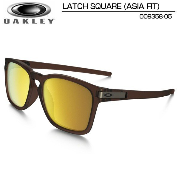 【34%off】Oakley オークリー サングラス ラッチスクエア アジア フィット LATCH SQUARE ASIA FIT マットルートビア×24Kイリジウム OO9358-05 日本正規品【新品】 メンズ レディース