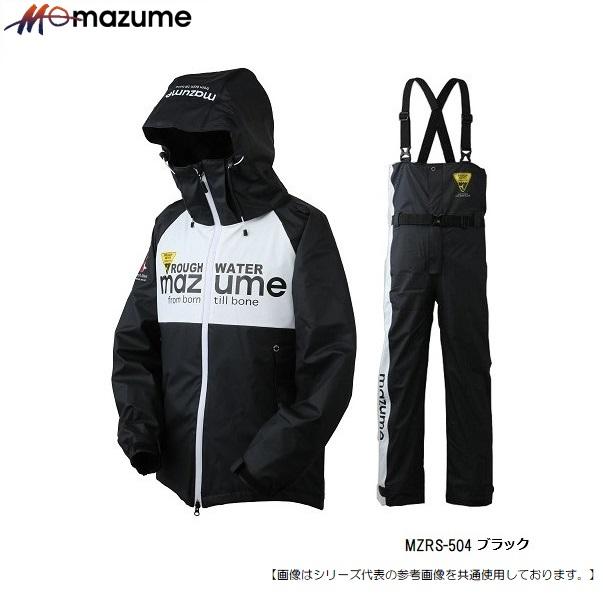 MAZUME 人気の防寒ウェア おすすめです 5日はポイント最大32倍 マズメ M お得セット ラフウォーターレインスーツ4 送料無料 激安 お買い得 キ゛フト MZRS-504 ブラック アパレル