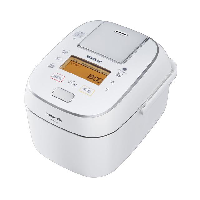 炊飯器 パナソニック 5.5合炊き 5合 可変圧力IHジャー炊飯器 Wおどり炊きSR-PW108-W SRPW108