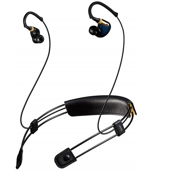 ワイヤレスステレオヘッドセット Bluetoothイヤホン JVC XE-M10BT-A ブルー系