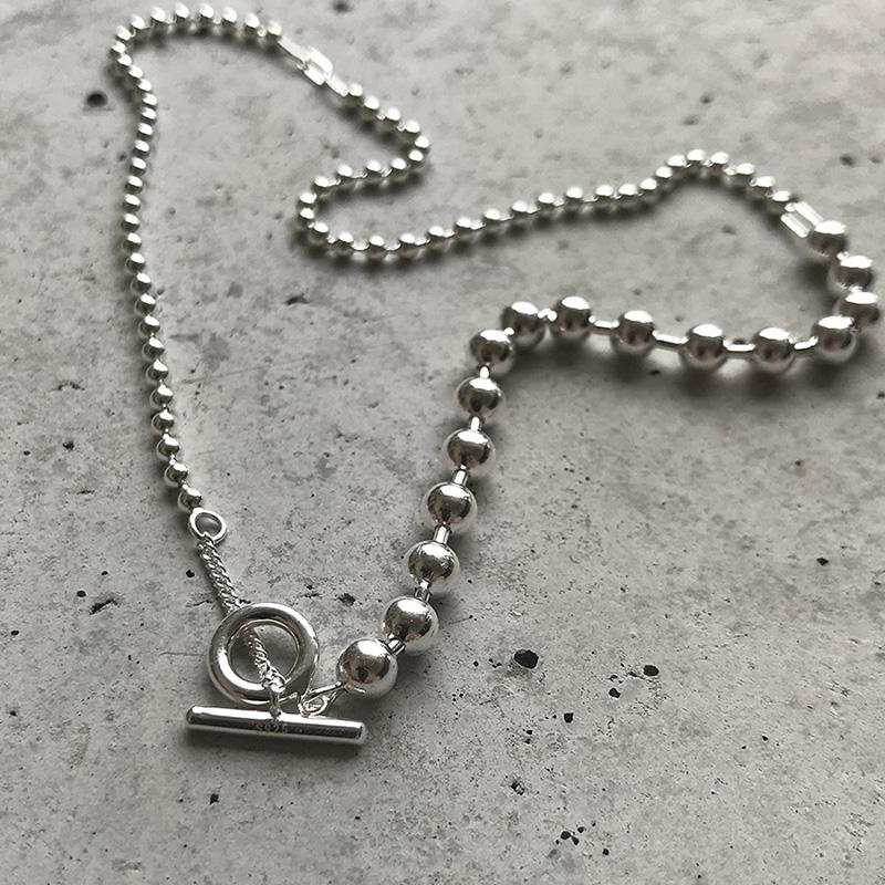 <title>大人の女性のデコルテにしっくり決まるデザインネックレス Silver925 Random Chain Necklace 追跡可能メール便 メイルオーダー 送料210円 y0091</title>