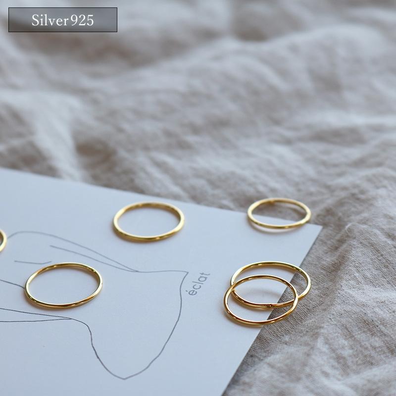 値下げしました※ 追跡可能メール便送料210円 をご選択の場合 付属品は付いておりません eclat 人気ブレゼント! エクラ Silver925 送料210円 Match Gold Skin 追跡可能メール便 お買得 e0115 Ring
