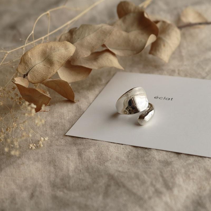■【eclat エクラ】 Silver925 Entangle Ring 【メール便不可】e0154