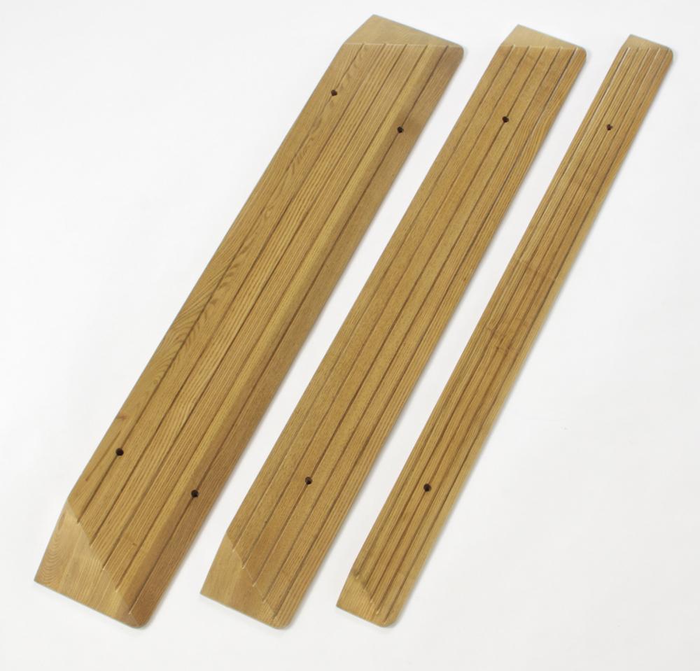 木製段差解消スロープ R 高さ5cm 長さ120cm