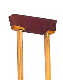 松葉杖の脇当て部品セット  木製松葉杖 脇当て取り替えセット