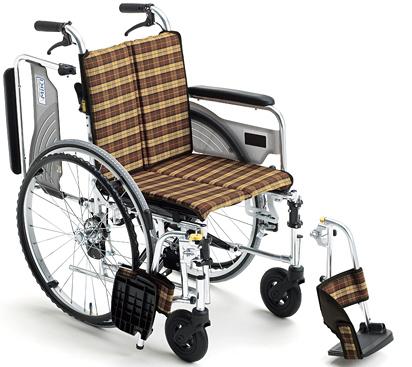 ミキ 自走型スリム車いす スキット4 SKT‐4