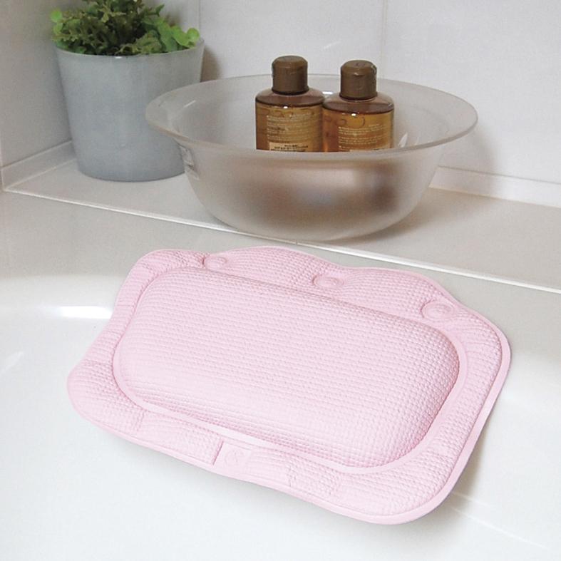 3つの吸盤でしっかり固定 買い物 洗濯機で洗えてお手入れ簡単 推奨 滑り止めバスピローBG2070
