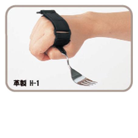 握力の弱い方 手指の曲がらない方に 定番スタイル 革製 万能カフ SALE