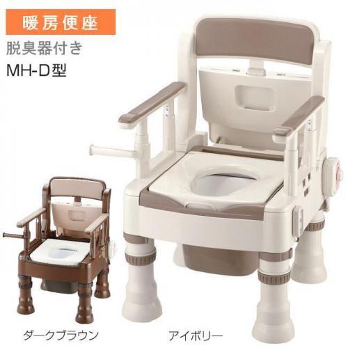 リッチェル ポータブルトイレ きらく MH‐D型 暖房便座・脱臭器付き