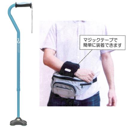 ヒューゴステッキ多点杖とマヒした腕のサポートにアームキーパー