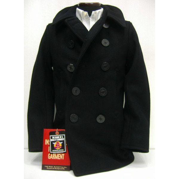 THE REAL McCOY'S(真实麦科伊)[U.S.NAVY PEA COAT/P大衣]军事/飞行员茄克/水手短外套!