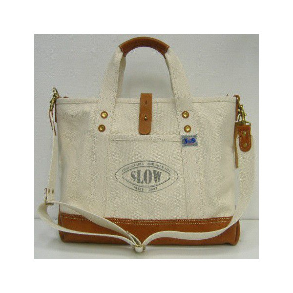 Three Eight(スリーエイト)×SLOW(スロウ) Tote Bag [Rugged-38 /Color Name Ver.]Three Eight別注/2号帆布/ショルダー/ トートバッグ!