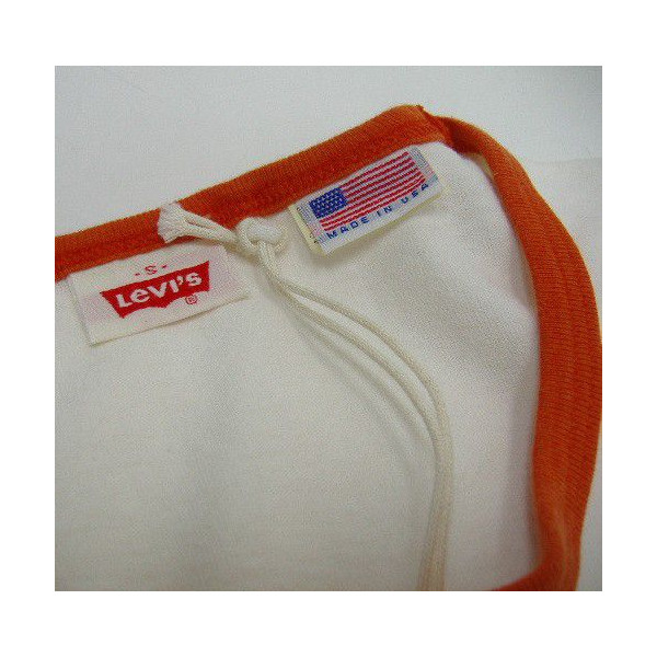 LEVI'S-XX(李维斯)VINTAGE CLOTHING/Orange Tab[1970s Levi's T-Shirt/MADE IN U.S.A.]ringa/短袖T恤!