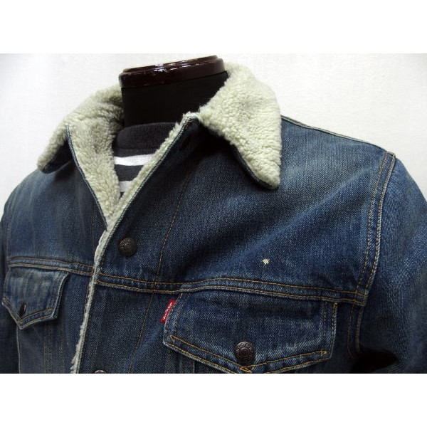 LEVI ' S-XX (李维斯) 复古服装/有关存档 [1967年类型 III 夏尔巴人的夹克,1967 年,3 路 / 夏尔巴人夹克 / 跟踪 / 吉恩 / 牛仔夹克 / 损伤处理 !