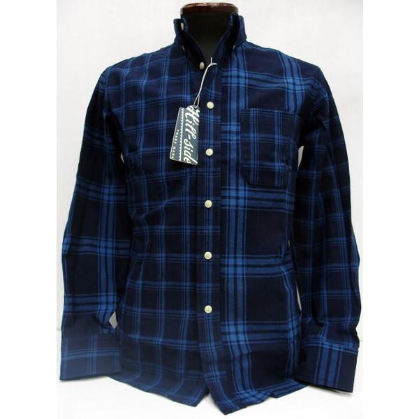 Hill-Side(ヒルサイド) Long Sleeve Shirt [Indigo Check/Lot.SH1-254]Made in New York City/ボタンダウンシャツ/長袖シャツ!