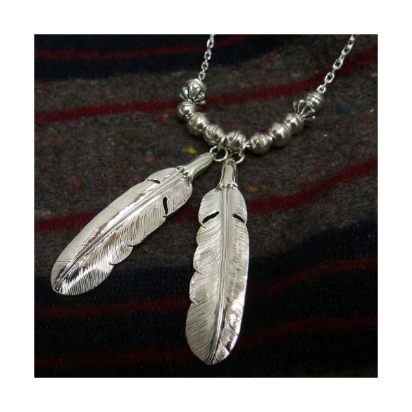 拉里 · 史密斯 (那里) 银首饰 [38 原始天鹰完成飞机羽毛] 银 950 / 三个八个不同的笔记 / 羽和组合模型 / 项链 / 吊坠 / 银 / 配件 / 纯银!