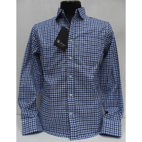 休み 正規特約店 即日配送OK Sweep スウィープ Oxford Gingham Check ギンガムチェック レギュラーカラーシャツ Shirts Round 特価キャンペーン Collar 長袖シャツ